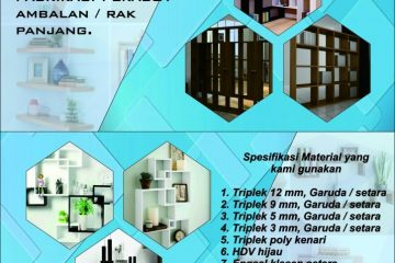 Jasa Pembuatan dan Pemasangan Perabot Ambalan / Rak Panjang Terbaik di Medan